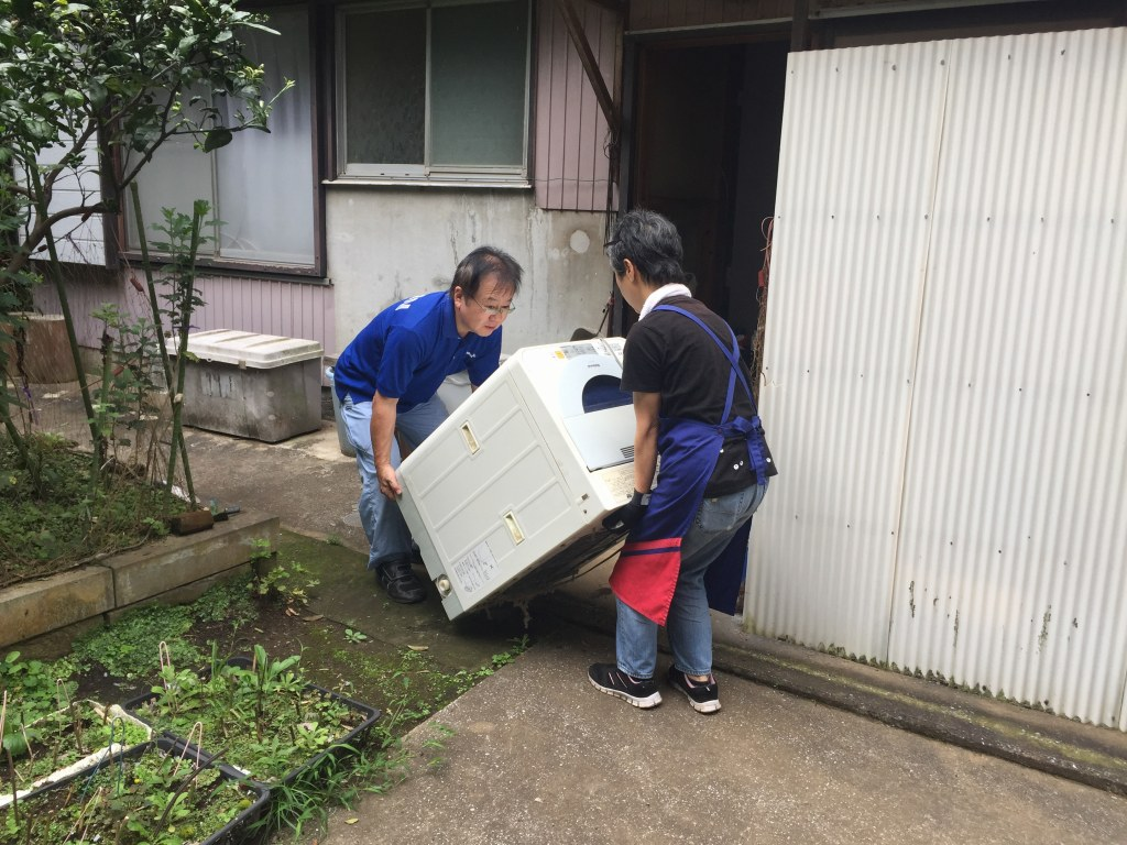 洗濯機の撤去